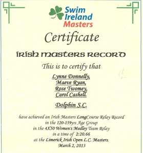 Dolphin - Irish Masters Relay Record