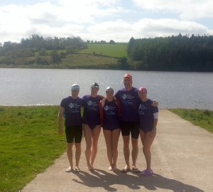 5of6 of Team Crosoige Mara at one of our Training Swims.