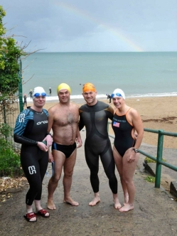 A beautiful Rainbow appeared to set us off smiling (or chasing Gold!)