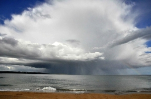 The Rain and Hail coming towards us at Myrtleville