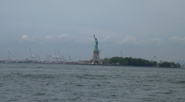 One of our early sights, Statue of Liberty