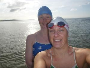 Lynne & I taking in the Sunshine in a self portrait!