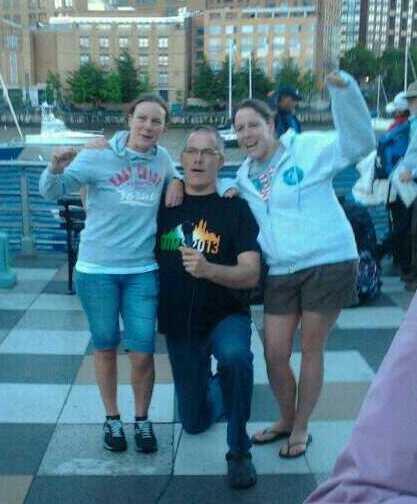 Me, Liam, Lisa  Team Ireland!