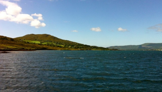 Heading for home, Bere Island on the left, Mainland on the right.