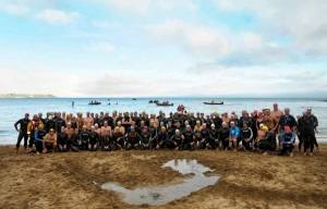 Over 100 swimmers make a splash for the RNLI