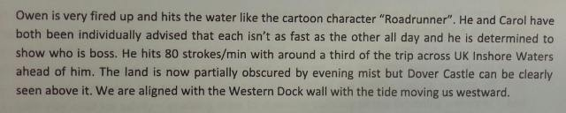 an extract from our observers report!